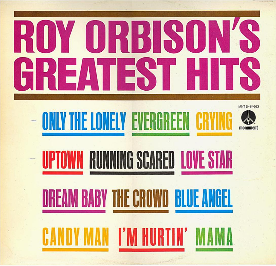 Roy Orbison\\\'s Greatest Hits MNT 64663