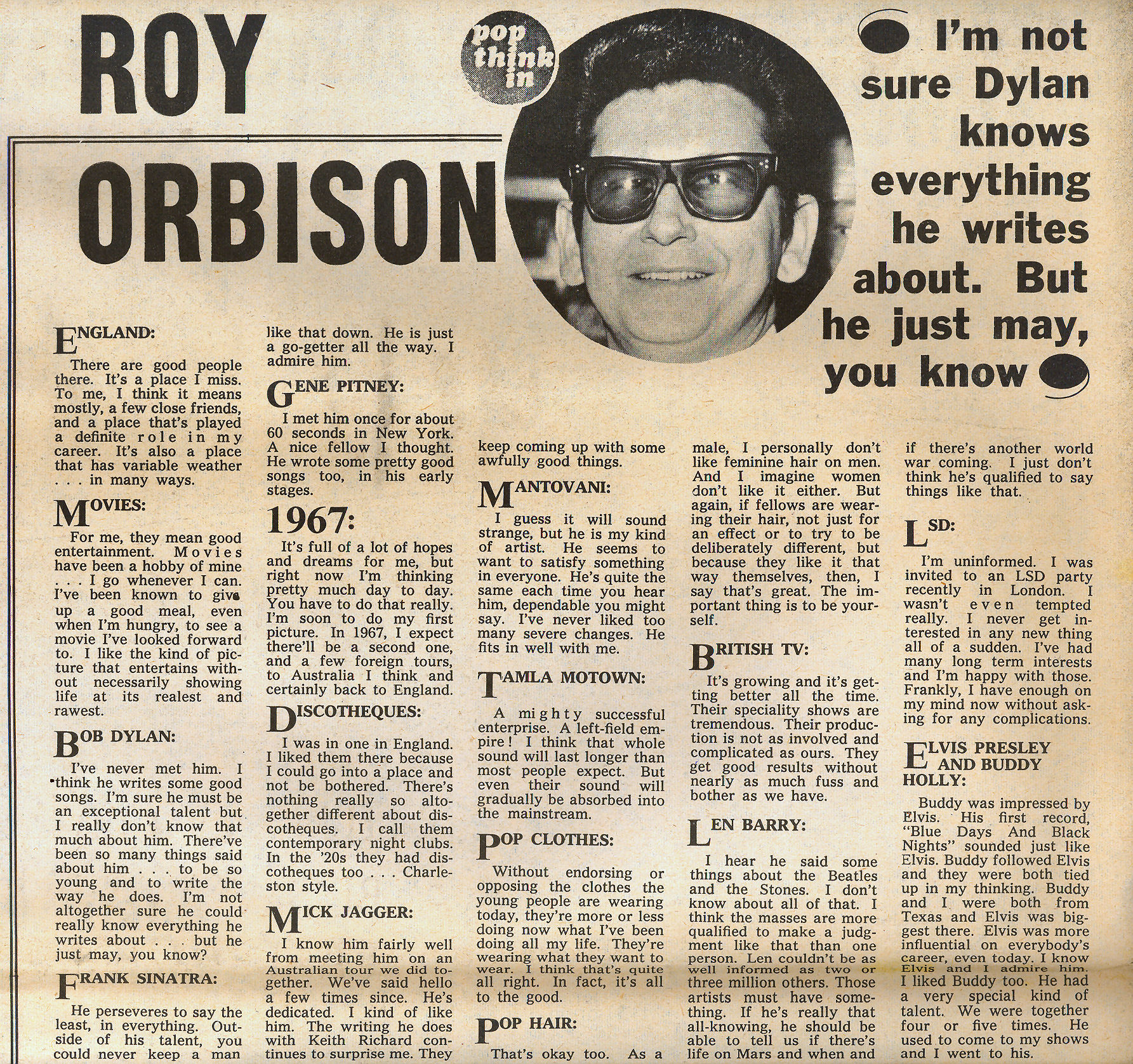 Interview med Roy Orbison