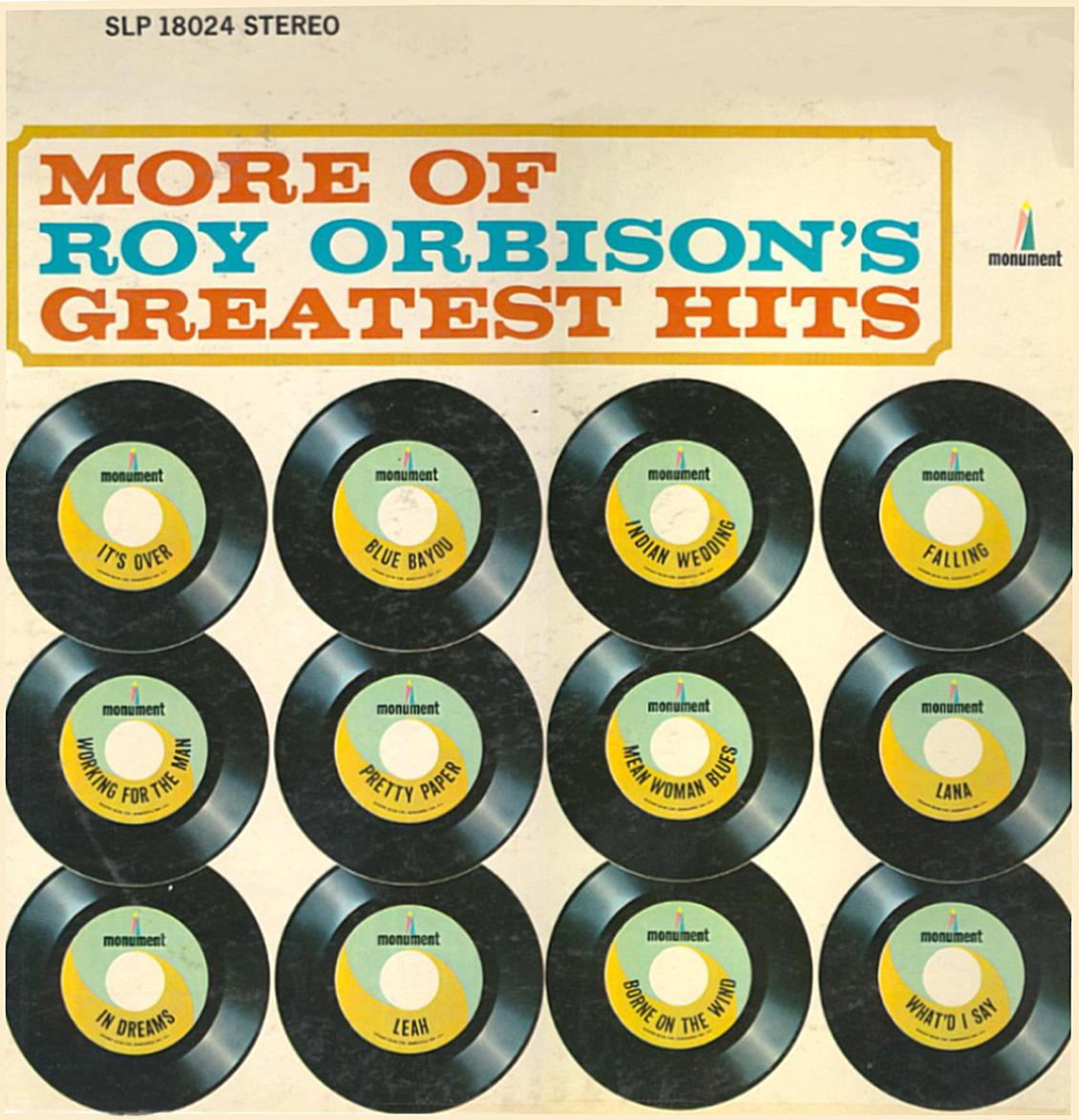 More Of Roy Orbison\'\'s Greatest Hits SLP 18024