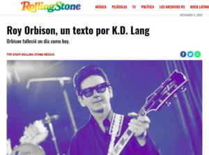 Artikel om Roy Orbison i den mexicanske udgave af RollingStone